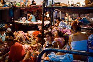 Overcrowding at El Salvador's Ilopango Women's prison. Credit: Meridith Kohut for The New York Times