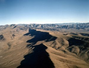 Yucca Mountain, Nevada looking North. (Credit: U.S. Department of Energy)