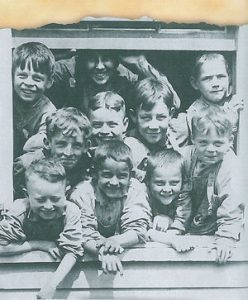 Children on an Orphan Train. Unknown date. Source.
