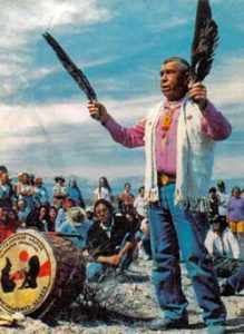 Western Shoshone Spiritual Leader Corbin Harney. (Credit: Dance for All People)