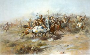 Resource Extraction would ultimately prove to be the catalyst for the Great Sioux War. Depicted above by renowned artist Charles Marion Russell.