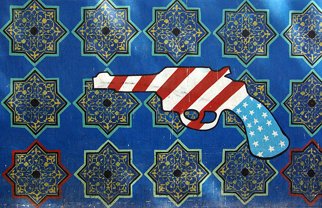 Grafitti on the American Embassy in Iran. (Phillip Maiwald)