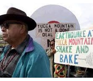 Yucca Mountain Western Shoshone Protest. (Credit: Colorado College)