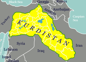 The region of would-be Kurdistan (Source: Wikimedia Commons)