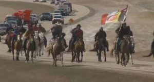 Ride against the Dakota Access Pipeline [Credit: KXNET-TV]