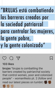 From BRUJAS instagram credit: brujas