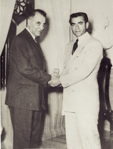 The Shah with Fazlollah Zahedi, the New Prime Minister.