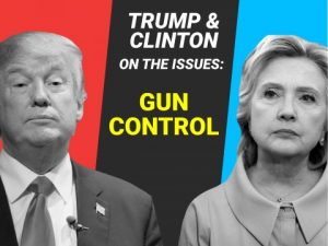Gun Control - http://www.businessinsider.com/clinton-and-trump-on-gun-control-2016-9