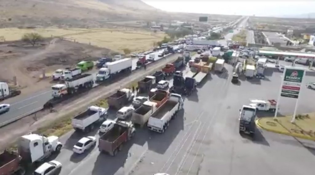 Traffic in Chihuahua resulting from a blockade (Credit: Business Insider)