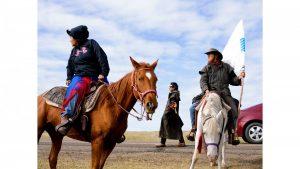 women on horses