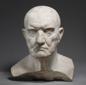 Portrait bust of Roman man, 1st c. BCE. Roman sculpture.