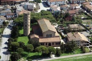 San Apollinare Church, Ravenna, Italy. 6th Century Basilica-style church with Campanile (bell tower)