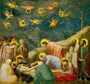 Giotto, The Lamentation (Mourning of Christ), c.1305. Pre-Renaissance fresco (wall painting)
