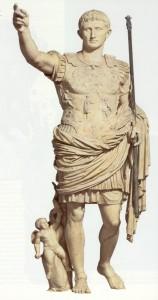 Emperor Augustus, 1st c. CE. Roman sculpture in marble.