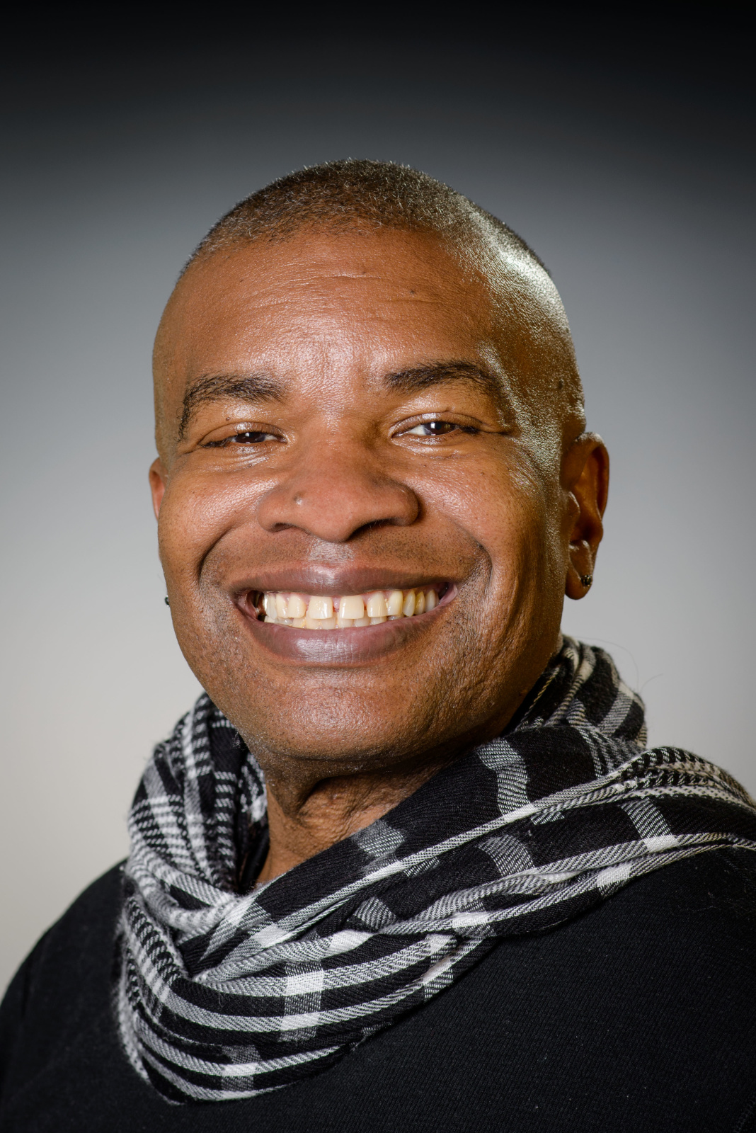 Kabby Mitchell, faculty in Dance and African Studies, photographed on Weds., Oct. 29, 2014.