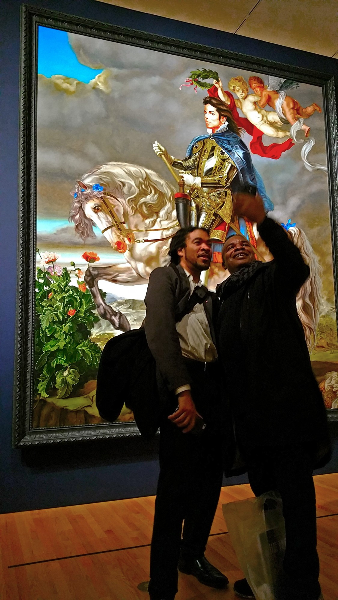 Kabby at last year's opening of Seattle Art Museum's Kehendi Wiley exhibition. Photo by Paul Gallegos.