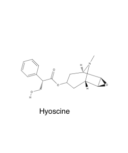 Chemical structure of hyoscine