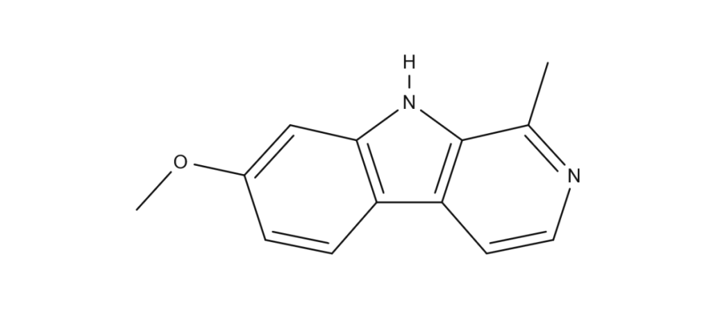 Structure of harmine molecule found in Banisteriopsis caapi