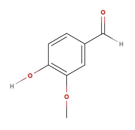 Vanillin (structural formula)